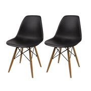 Madison Home USA Side Chair (Set of 2); Black