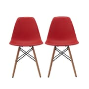 Madison Home USA Side Chair (Set of 2); Red