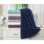 Berrnour Home Piano Bath Towel (Set of 2); Midnight Blue