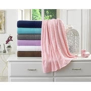 Berrnour Home Piano Bath Towel (Set of 2); Pink