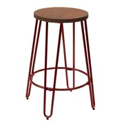 X Rocker Quinn 28.94'' Bar Stool; Matte Red
