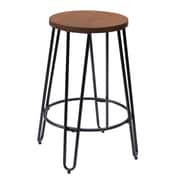 X Rocker Quinn 23.82'' Bar Stool; Matte Black