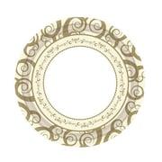 Posh Table Swirly Round Paper Dessert Plate (Set of 40)