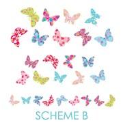 Wall Decal Source Butterfly Nursery Wall Decal; Scheme B