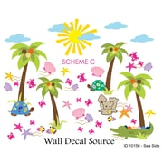 Wall Decal Source Summer, Beach and Sea Side Nursery Wall Decal; Scheme C