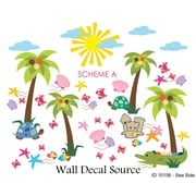 Wall Decal Source Summer, Beach and Sea Side Nursery Wall Decal; Scheme A