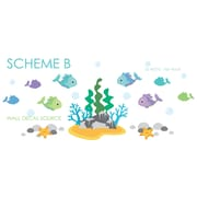 Wall Decal Source Under the Ocean Fish, Under The Sea, Rock and Coral Vinyl Wall Decal; Scheme B