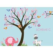 Wall Decal Source Nursery Tree, Owl and Elephant Wall Decal; Scheme C