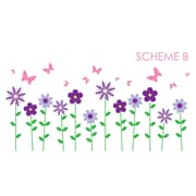 Wall Decal Source Flower and Butterfly Wall Decal; Scheme B