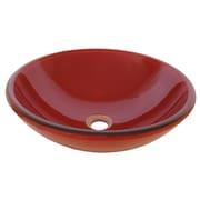 Novatto Rosso Glass Vessel Bathroom Sink Set