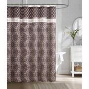 Luxury Home Rimini Embossed Microfiber Shower Curtain