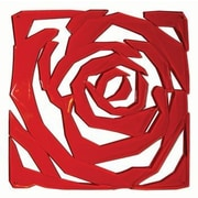 Winport Industries 11.5'' x 11.5'' Rose Model Room Divider; Red