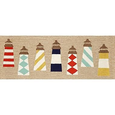 Liora Manne Frontporch Lighthouses Area Rug; Runner 2'3'' x 6'