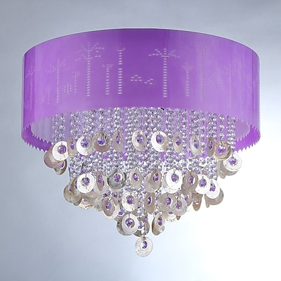 Warehouse of Tiffany 4-Light Drum Chandelier WYF078277179384