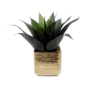Creative Branch Faux Agave in Textured Pot Desk Top Plant in Planter