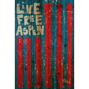 Marmont Hill Live Free Vertical by Tori Campisi Painting Print Plaque; 60'' H x 40'' W