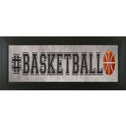 Pictures and Mirrors Basketball Framed Textual Art