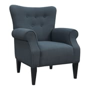 Emerald Home Furnishings Delia Neon Button Back Arm Chair; Navy