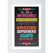 Pictures and Mirrors Superhero 1 Framed Wall Art