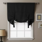 Best Home Fashion, Inc. Thermal Insulated Tie-Up Shade; Black