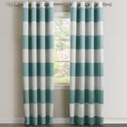 Best Home Fashion, Inc. Bold Stripe Curtain Panel (Set of 2); Ocean