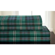 Elite Home Products (Bedding) Winter Nights 100pct Cotton Flannel Jackson Plaid Sheet Set; Queen