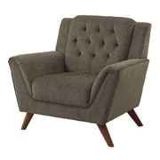 A&J Homes Studio Fabric Upholstered Tufted Solid Wood Arm Chair