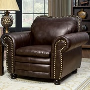 A&J Homes Studio Zuri Nailhead Leather Arm Chair