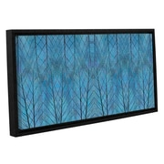 ArtWall 'Leaf Design' by Cora Niele Framed Graphic Art on Wrapped Canvas; 24'' H x 48'' W x 2'' D
