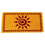 Arus Sun Terry Turkish Cotton Beach Towel; Gold