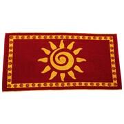 Arus Sun Terry Turkish Cotton Beach Towel; Burgundy