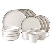Gordon Ramsay Bread Street 16 Piece Dinnerware Set; White