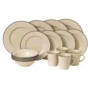Gordon Ramsay Union Street 16 Piece Dinnerware Set; Cream