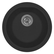LaToscana Atlantic 17'' x 14'' Series Single Basin Round Drop Kitchen Sink; Matt Black