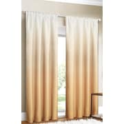 Dainty Home Shades Curtain Panels (Set of 2); Gold