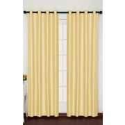 Popular Bath Products Stacy Curtain Panel; Gold