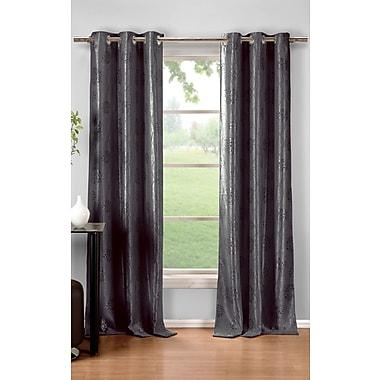 DR International Krysta Thermal Curtain Panels (Set of 2); Gray