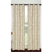 Popular Bath Products Alexandra Curtain Panel (Set of 2); Beige