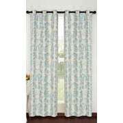 Popular Bath Products Alexandra Curtain Panel (Set of 2); Beige/Seafoa
