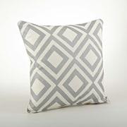 Saro Olympia Printed Diamond Cotton Throw Pillow; Silver