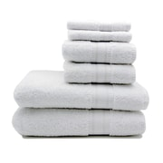 Home Fashion Design Regatta 6 Piece Towel Set; White