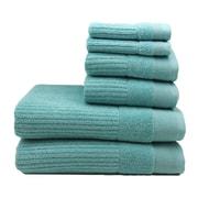 Home Fashion Design Diamante 6 Piece Towel Set; Porcelain Blue