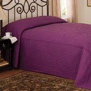American Traditions French Tile Twin Bedspread in Plum