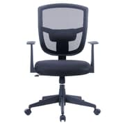 Porthos Home Darius 35.8'' Mid-back Mesh Office Chair w/ Arms; Black