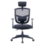 Porthos Home Justinian 35.5'' Adjustable Office Chair with Arms; Black