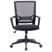 Porthos Home Angelina Adjustable Office Chair with Arms; Black
