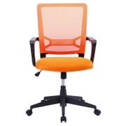 Porthos Home Angelina Adjustable Office Chair with Arms; Orange