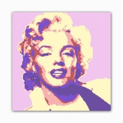 Picture it on Canvas 8 Bit Blonde Bombshell Modern Graphic Art on Wrapped Canvas