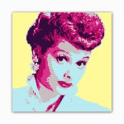 Picture it on Canvas 8 Bit Comedienne Modern Graphic Art on Wrapped Canvas
