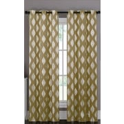 Popular Bath Products Marquis Curtain Panel (Set of 2); Gold